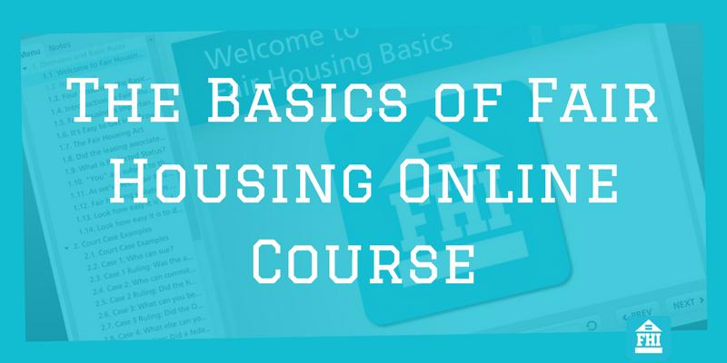 Fair Housing Online Course