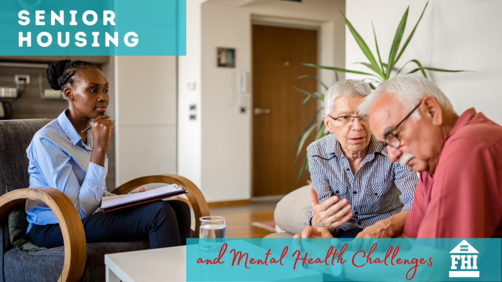 Senior Housing and Mental Health Challenges - Woman trying to assist to senior citizens.